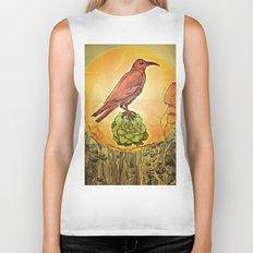 NATURE / BIRD and SUCCULENT Biker Tank