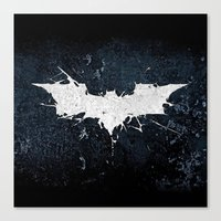 bat man Canvas Prints featuring BAT MAN by Thorin
