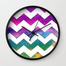 Lucky Chevron Wall Clock