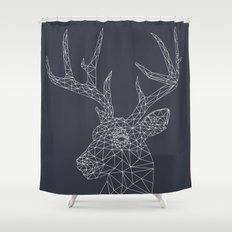 Interconnected Deer Shower Curtain