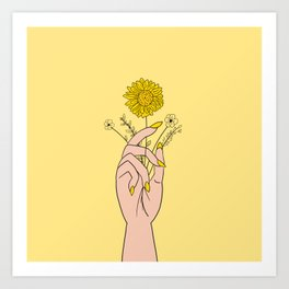 You're a Wildflower Art Print