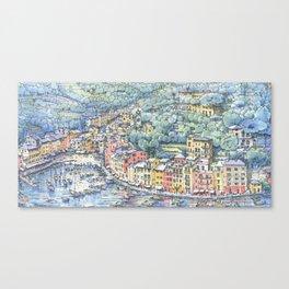 Portofino dal mare Canvas Print