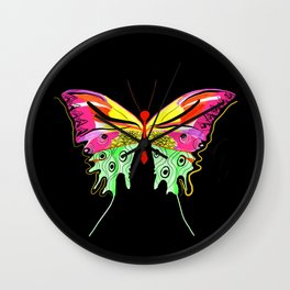 Art-Deco inspired butterfly Wall Clock