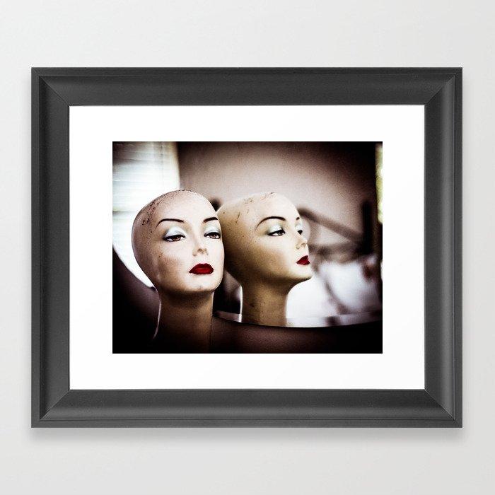 Mannequin Heads Framed Art Print