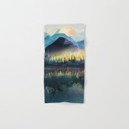 Mountain Lake Under Sunrise Hand & Bath Towel