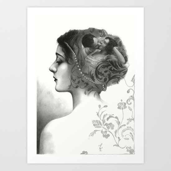 Requiro - pencil drawing Art Print