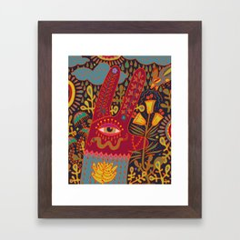Cyclops Rabbit Framed Art Print