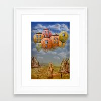 home sweet home Framed Art Prints featuring Sweet Home by teddynash