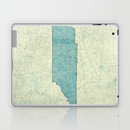 Tennessee State Map Blue Vintage Laptop & iPad Skin
