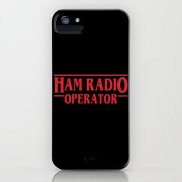 Strange Ham Radio Operator iPhone Case