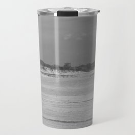 Dunes of Assateague Island (black and white) Travel Mug