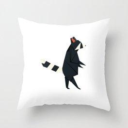 Racсoon Origami Throw Pillow