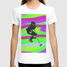 Taking Control- Ice Hockey Player & Puck T-shirt
