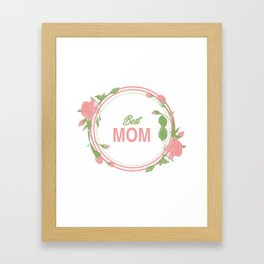 Happy Mothers Day Message Best Mom Grandma Gift Framed Art Print