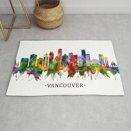 Vancouver Canada Skyline Rug