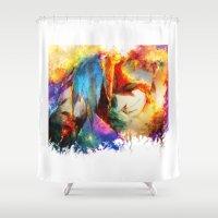 gurren lagann Shower Curtains featuring Kamina by ururuty