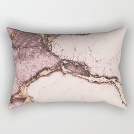 GEMSTONE AND GOLD BLUSH ROSE Rectangular Pillow