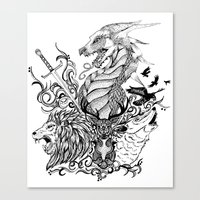 thrones Canvas Prints featuring Game of Thrones by Ink Tales