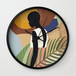 Tropical Girl 2 Wall Clock