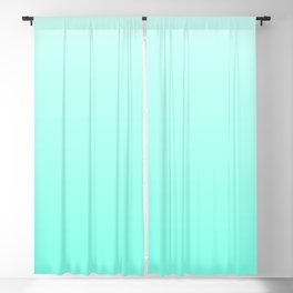 Pastel Gradient Collection - Azure Aqua Ocean Blue Color Blackout Curtain