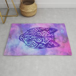 """""""Dire Wolf"""" Purple on Psychedelic Mist Rug"""
