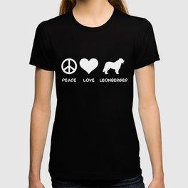Peace, Love, Leonberger T-shirt