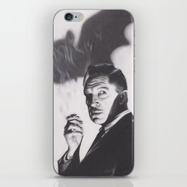 Original Charcoal Drawing of Vincent Price in The Bat iPhone Skin