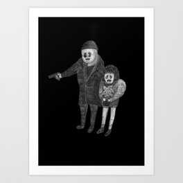 Zombies in my backyard:  Leon: The Professional Art Print
