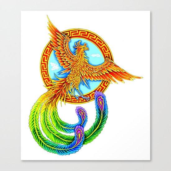 Chinese Vermilion Bird Canvas Print