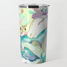 Kelpie unicorn and goldfish Travel Mug