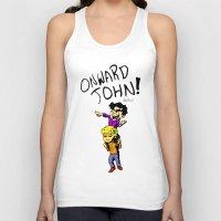 onward Tank Tops featuring Onward John! by Rebekah Kroeplin