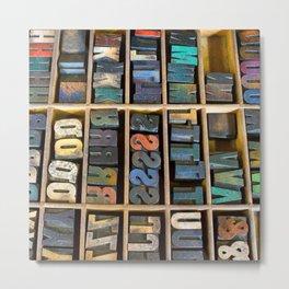 Wood Type II Metal Print