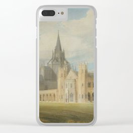 """J.M.W. Turner """"Fonthill Abbey in Wiltshire, England from the south west"""" Clear iPhone Case"""