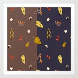 Double Autumn Art Print