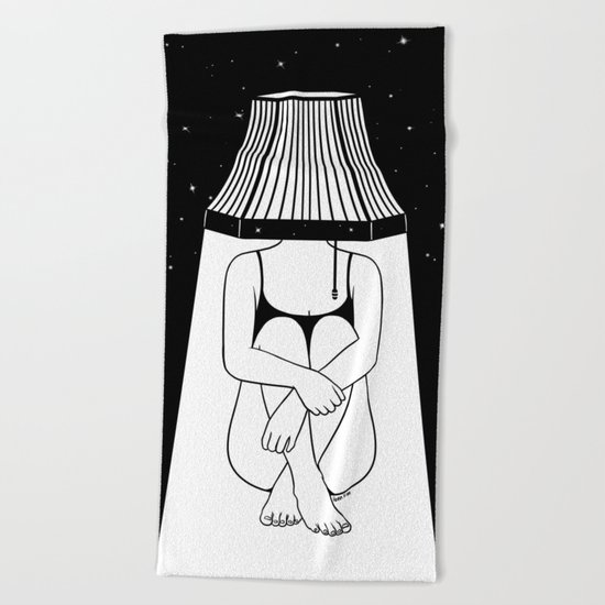 Alone Beach Towel