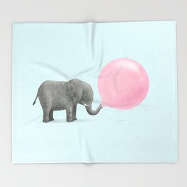 Jumbo Bubble Gum Throw Blanket
