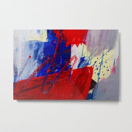 Concrete Red Blue CU Metal Print