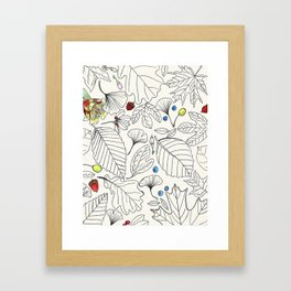 The Beauty of Leaves Framed Art Print