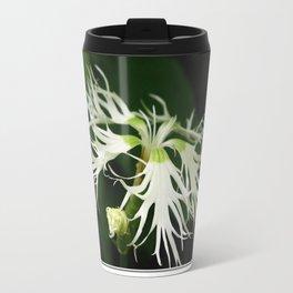 Dianthus named Superbus White Travel Mug
