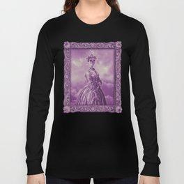 Lady Bonehead VINTAGE PURPLE / Skeleton portrait Long Sleeve T-shirt