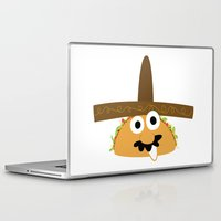 taco Laptop & iPad Skins featuring Senior Taco by Pig & Pumpkin