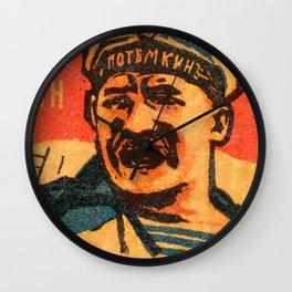 Battleship Potemkin -poster Wall Clock