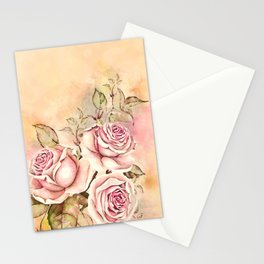 Sweet Rosa #floral #watercolor Stationery Cards