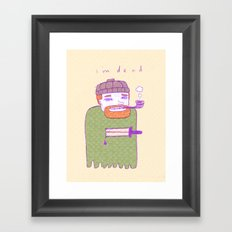 dead guy irl Framed Art Print