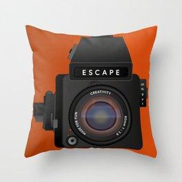 Escape Camera, medium format Throw Pillow