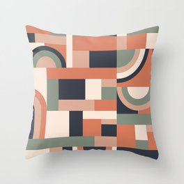 Earth Tones Blocks #society6 #pattern Throw Pillow