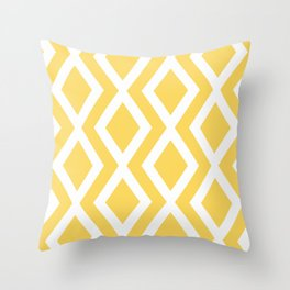 Yellow Diamond Throw Pillow