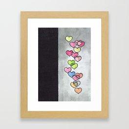 Periscope Hearts Framed Art Print