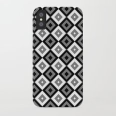 Gray White and Black Diamonds iPhone X Slim Case