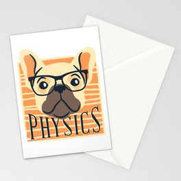 Physics American Pit Bull Terrier Puppy Dog Stationery Cards